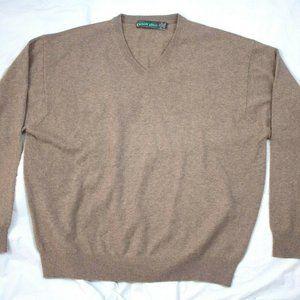 Eildon Hills Mens Long Sleeve 100% Cashmere V-Neck